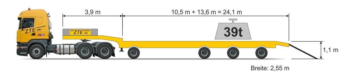 4-axle Semi type semi-trailer
