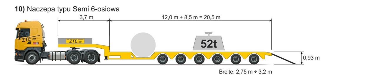 6-axle Semi type semi-trailer